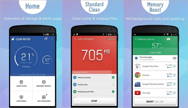 Clean Master Boost and AppLock Free Apk